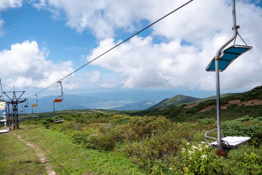 刈田リフトから望む景色