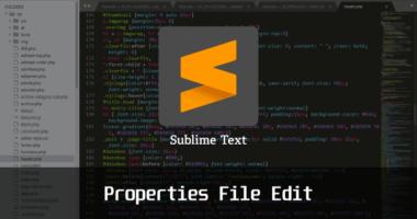 properties ファイルも編集できるテキストエディタ Sublime Text