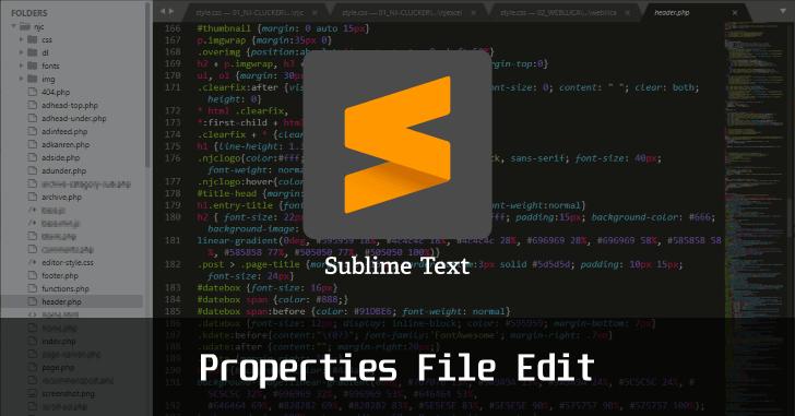 SublimeText でプロパティファイルを編集