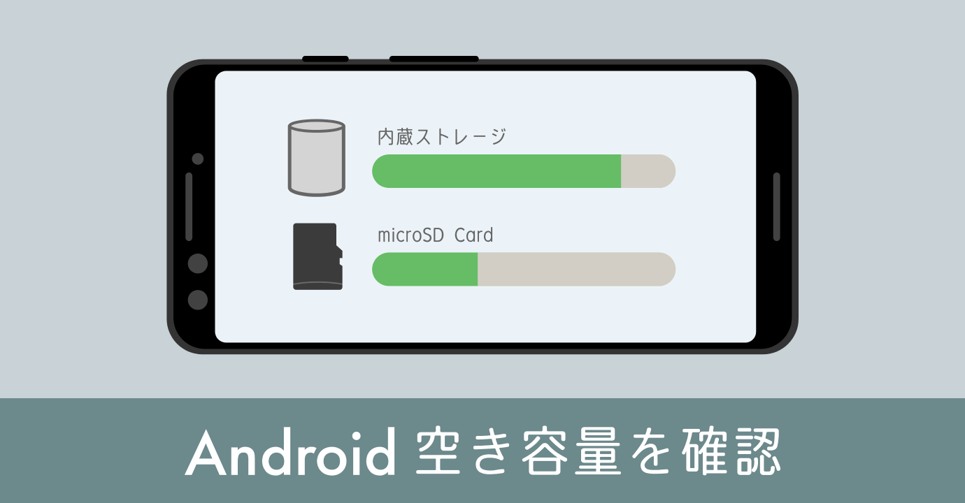 Androidストレージの空き容量チェック