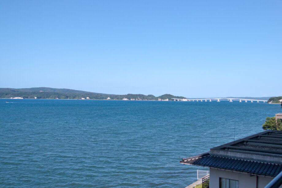 美湾荘の部屋からの眺望