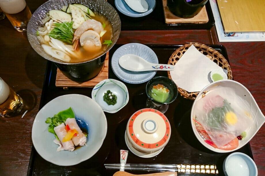 美湾荘の夕飯