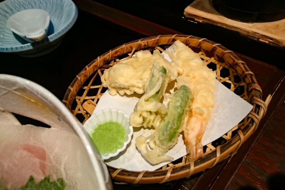 美湾荘 夕飯の天ぷら