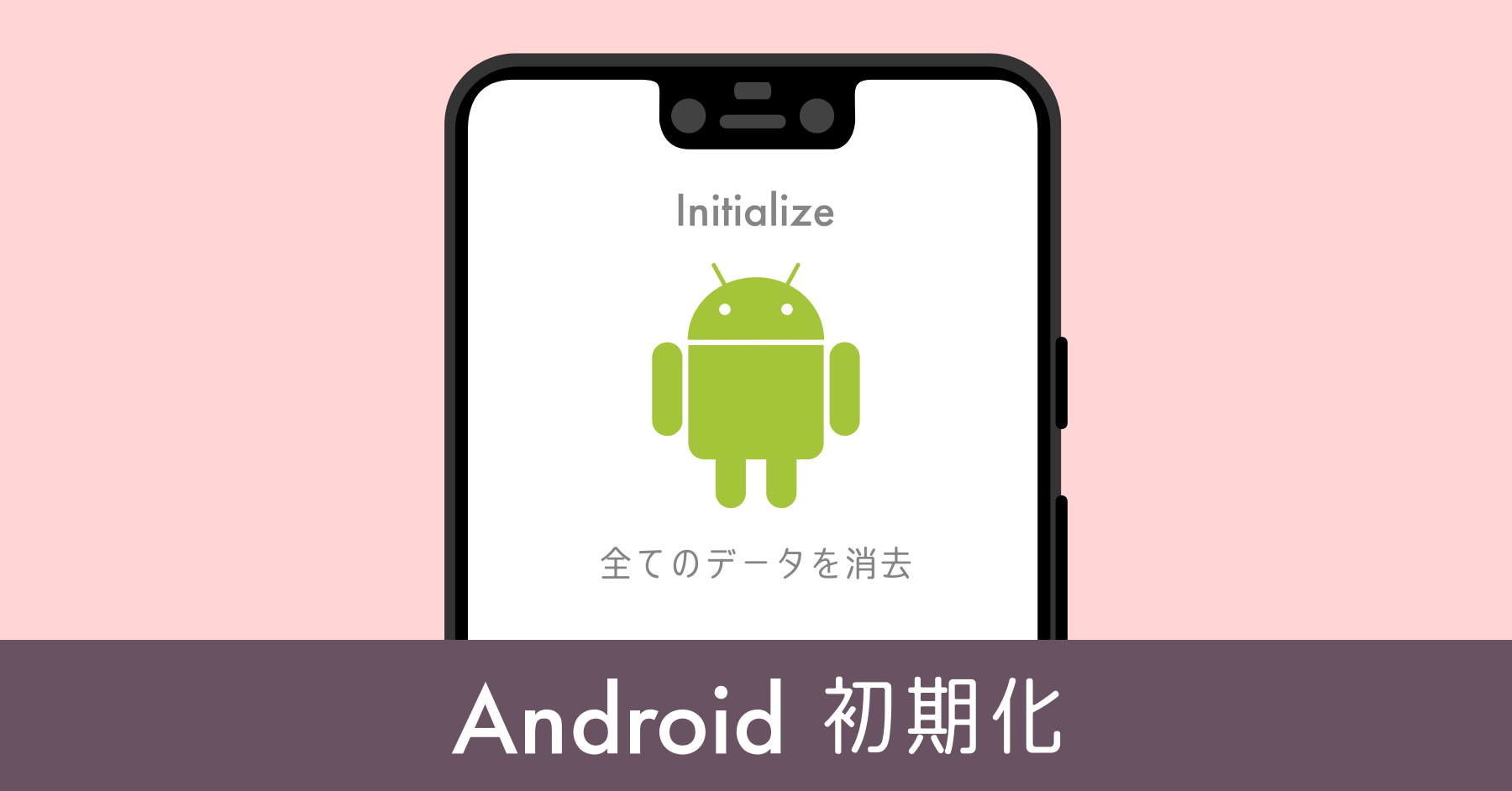 Android端末を初期化する方法