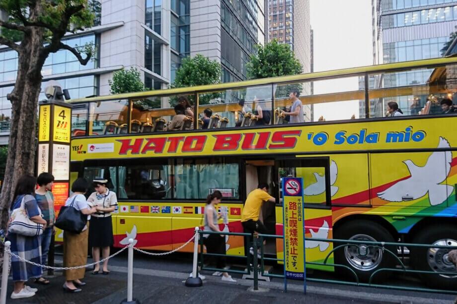 2階建て はとバスに乗車