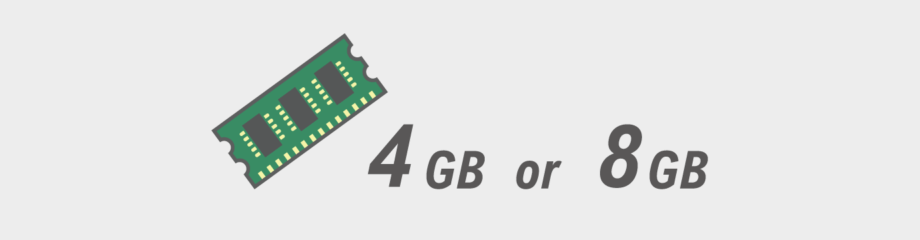 メモリは 4GBか8GBか どちらが良い?