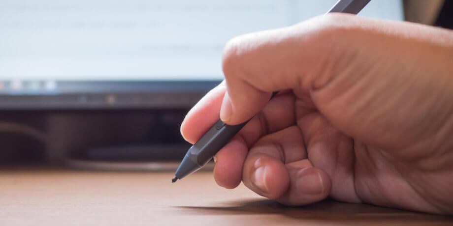 Surface Pen の押しにくいサイドボタン