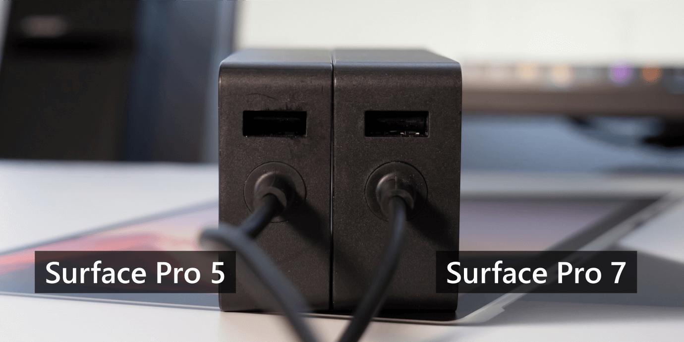 Surface Pro 用アダプターの USB ポート