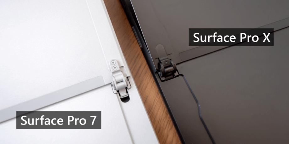 Surface Pro 7 と Pro X のキックスタンド
