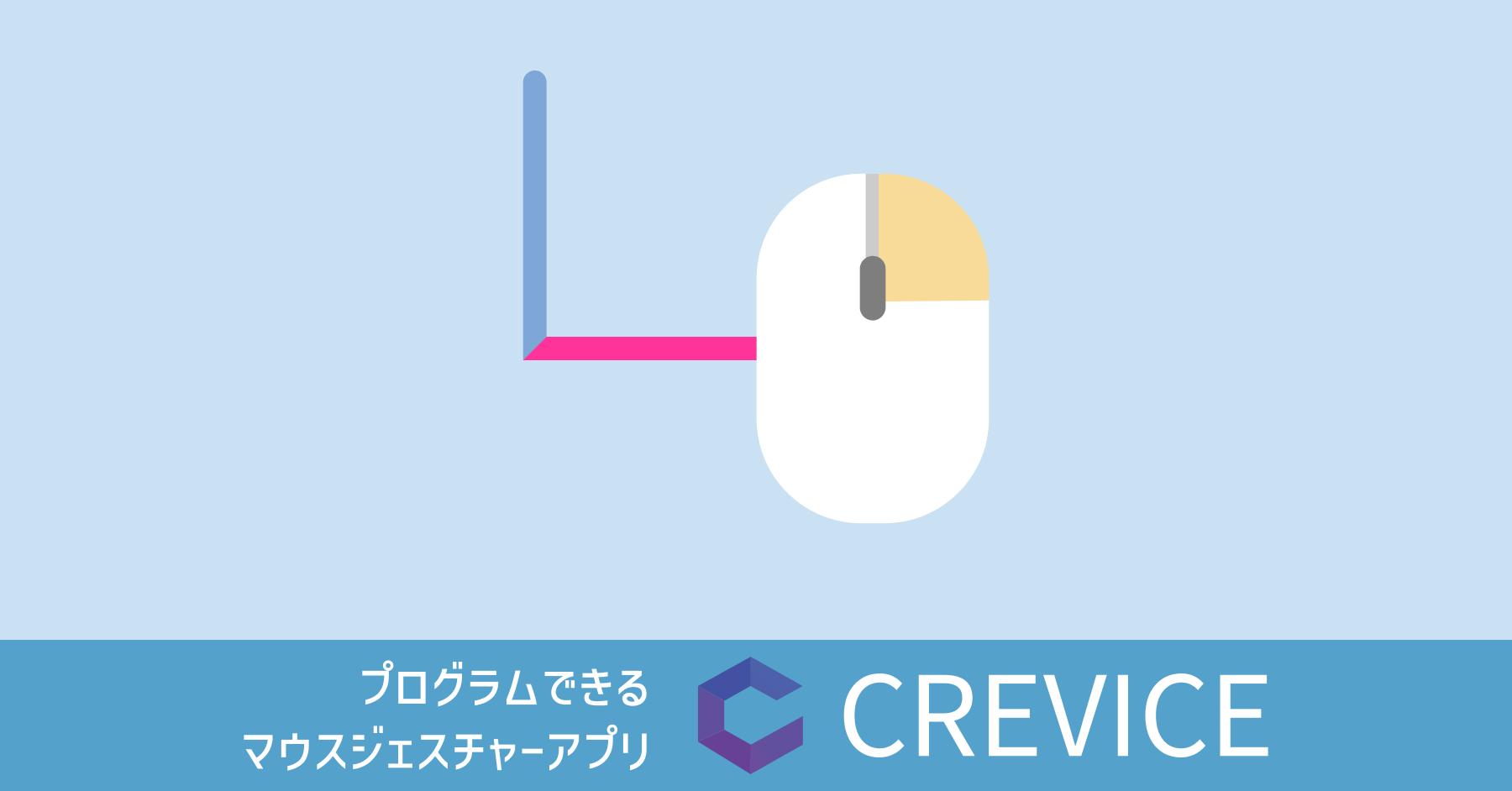 プログラムできるマウスジェスチャーアプリ CREVICE