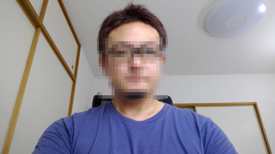 Surface Go 2 インカメラで撮影