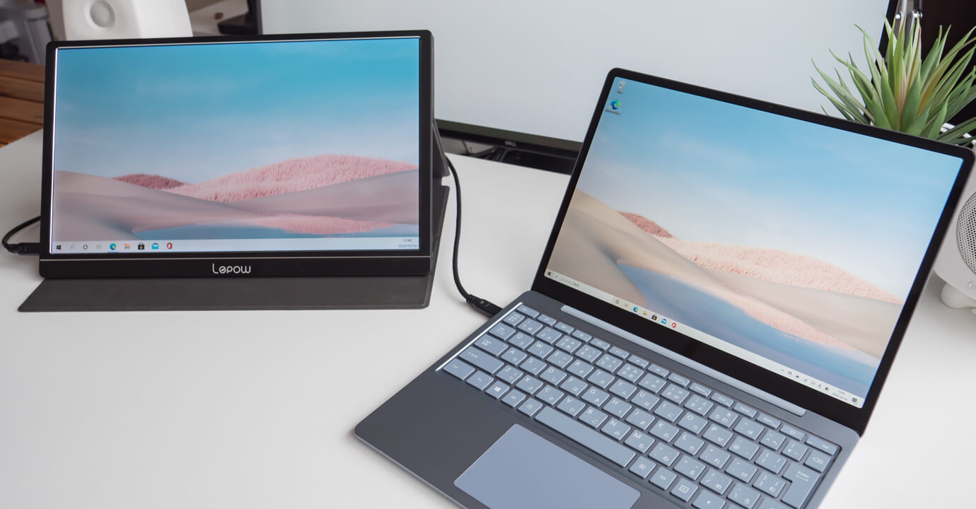 Surface Laptop Go に外部モニター接続