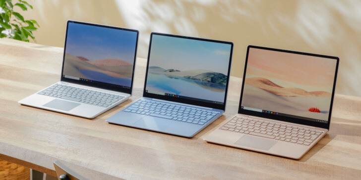 Surface Laptop Go 3色展開