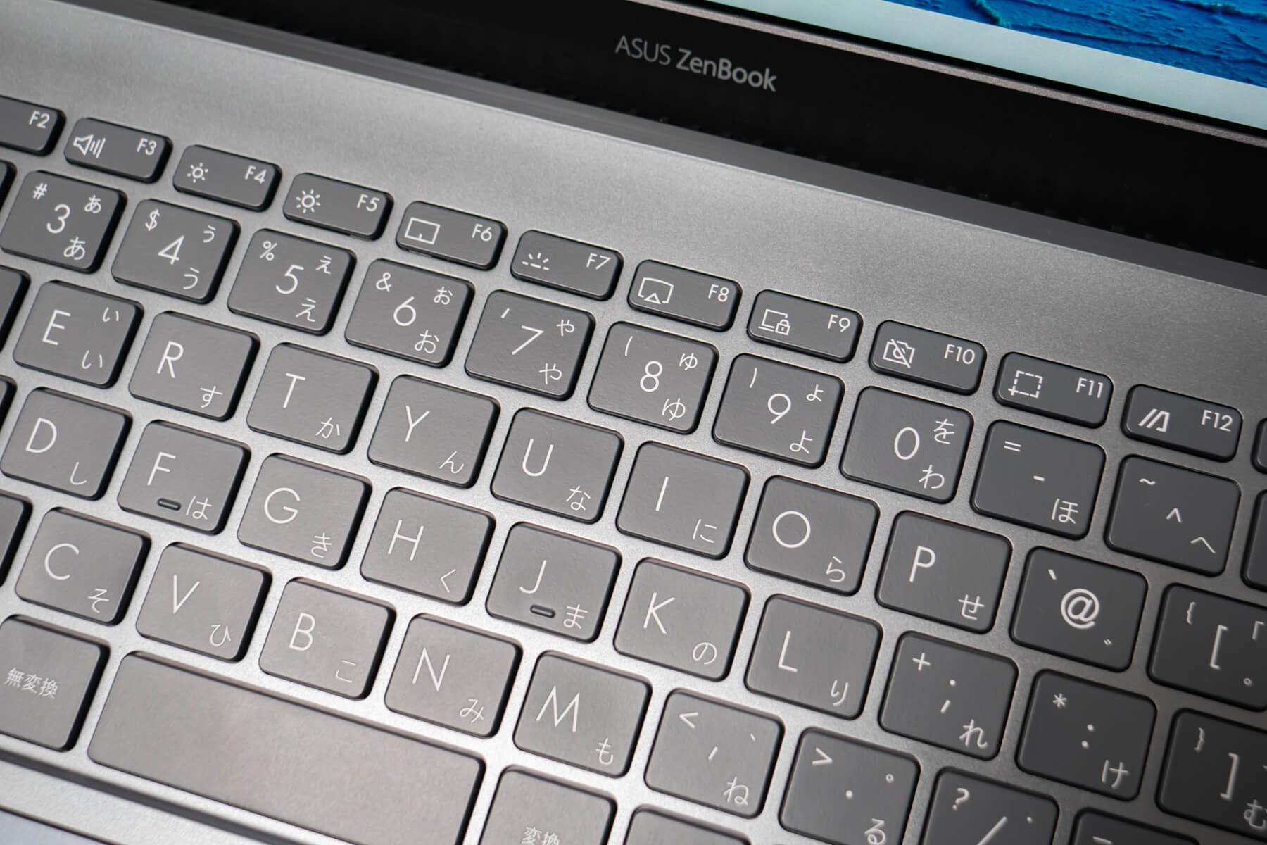ZenBook 13 ファンクションキー