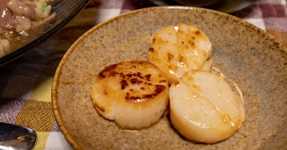 【ふるさと納税】北海道紋別市ホタテ刺し身バター醤油焼き