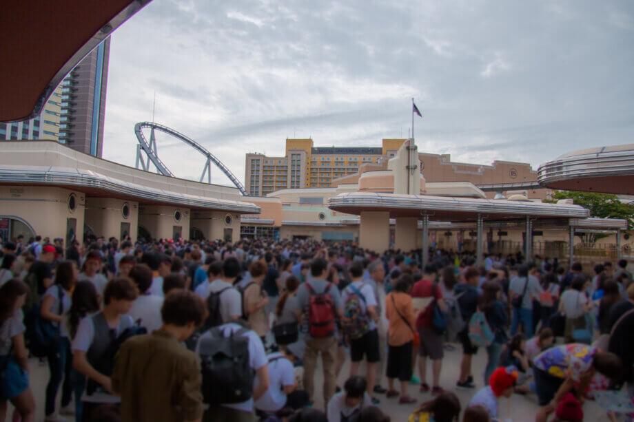 USJ 入場前の混雑状況