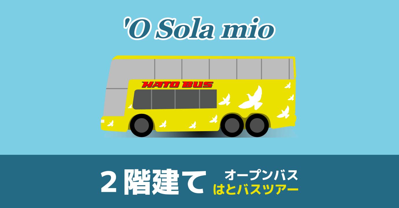 2階建てバスパノラマ観光 'O Sola Mio