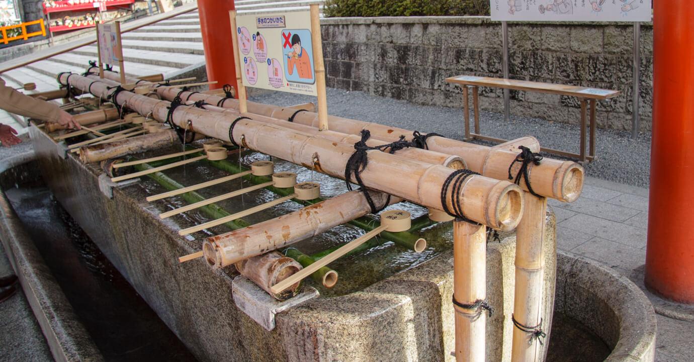 京都 伏見稲荷大社 手水舎