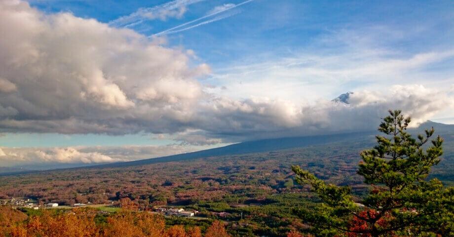 富士山と紅葉の絶景スポット!紅葉台の展望台レストハウス