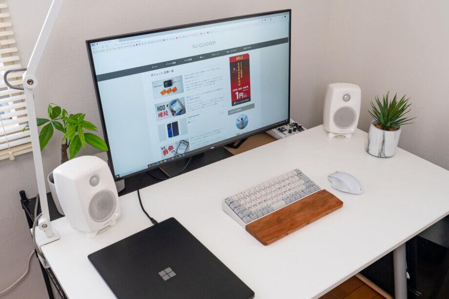 Surface Laptop 4 を閉じて外部モニターで使う