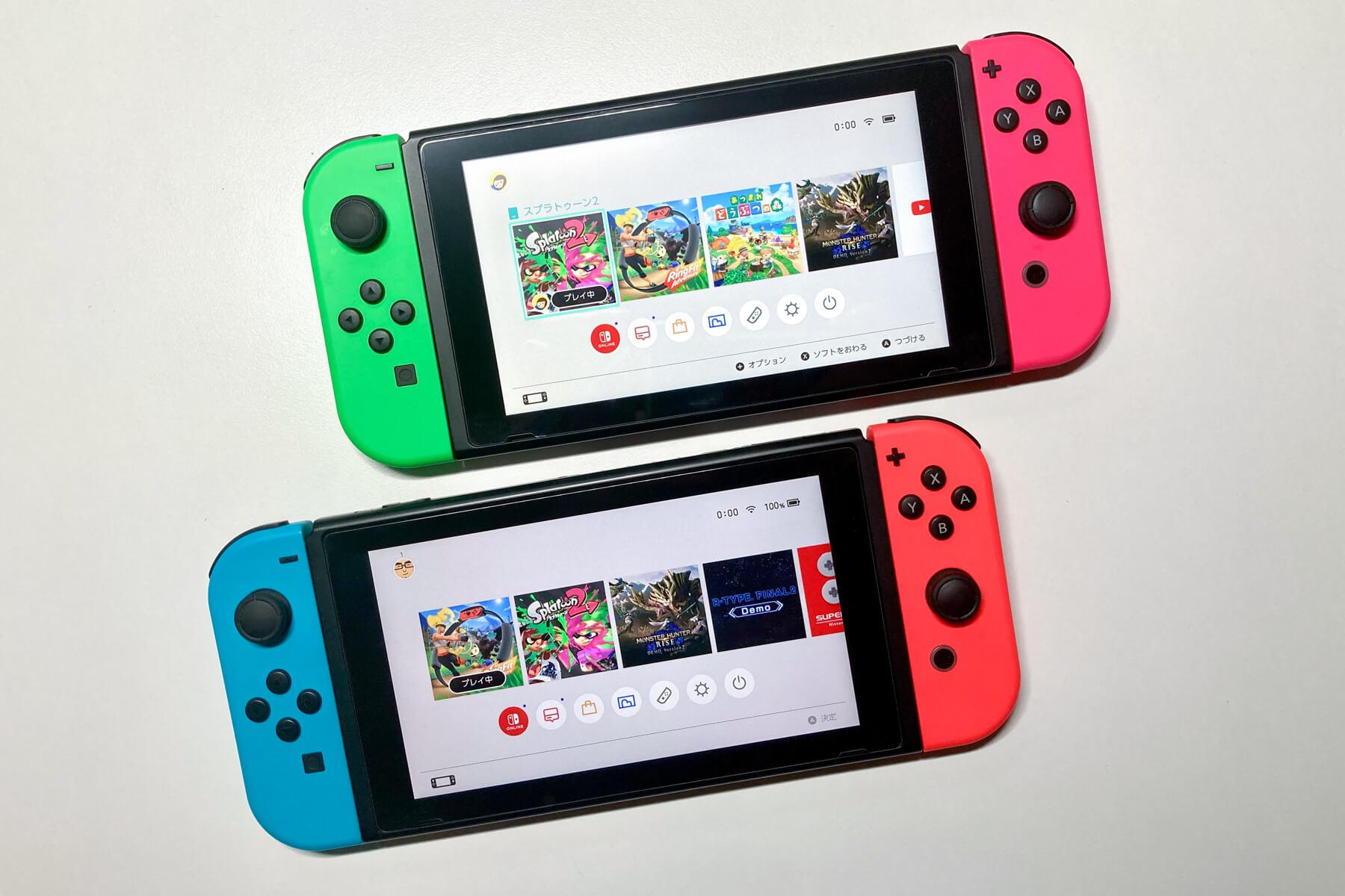 2台の Nintendo Switch