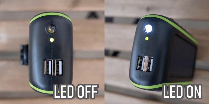LED 点灯状態と出力ポート