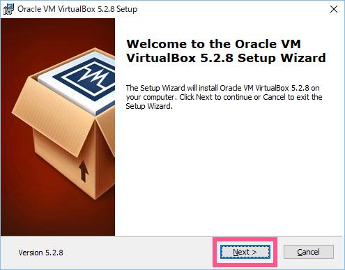 VirtualBox インストールウィザード