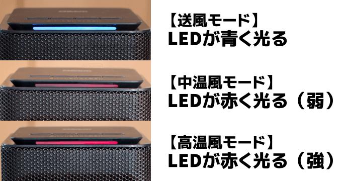 LED の点灯する色の違い