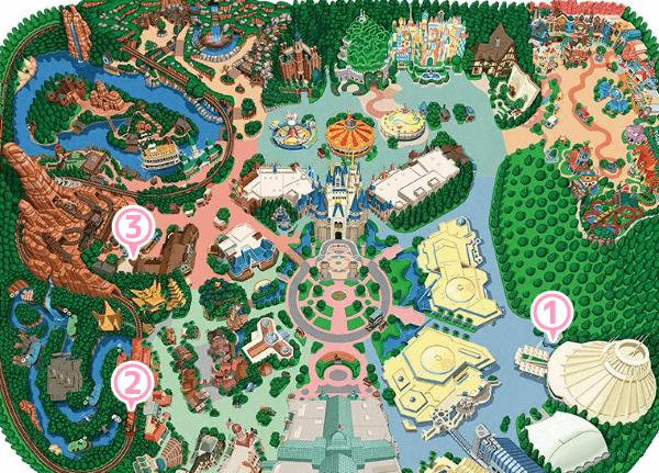 東京ディズニーランドの喫煙所マップ