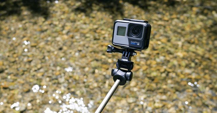 GoProをマウントした場合