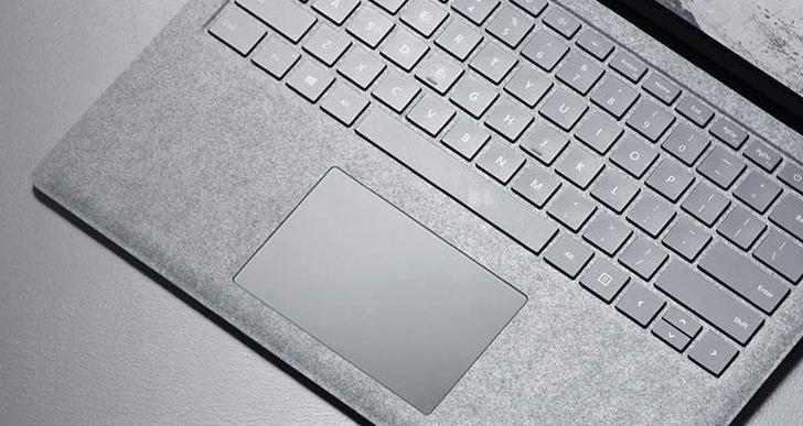Surface Laptop キーボードの素材